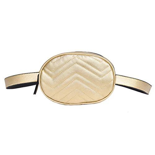 Vssictor Fanny Pack Sac banane poche poitrine réglable pour hommes femmes couleur pure cuir PU taille sac mode pour voyage randonnée course sports de plein air