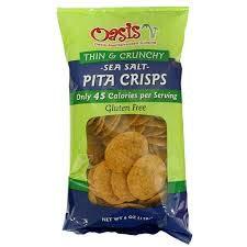 Oasis Pita Crisps Sea Salt Gluten Free 6oz bags x 6 pack (36-oz total)