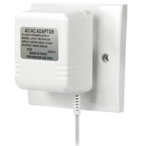 "Power Supply Adapter for Video Doorbell, Video Doorbell 2 & Nest Hello Video Doorbell with 236"" Long Cable,18V 500Mah Doorbell Accessories Power Charging Adapter"