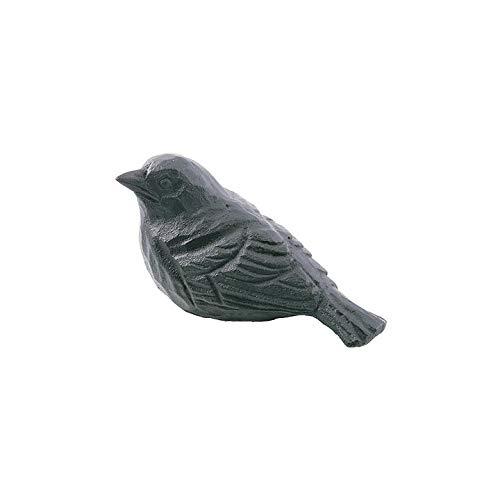 Wildlife Garden Sculpture d'oiseau en fonte pour garçon Noir