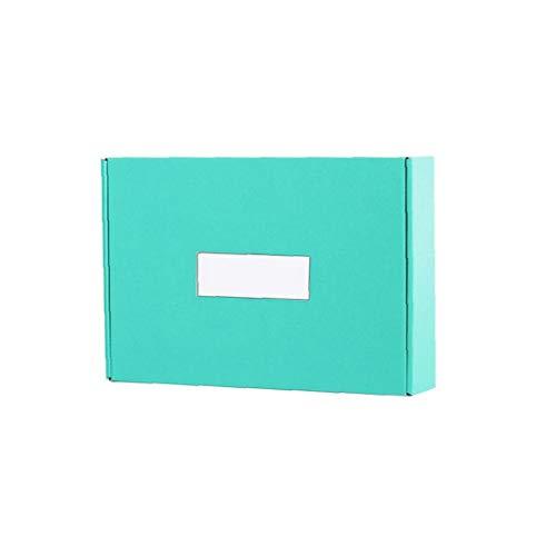 fedsjuihyg Sammlung Square Box Flugzeug Box Großhandel Extra Hart Papier Geschenk-Box-150 * 100 * 40mm (Mint Green)