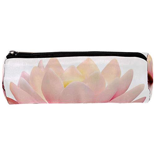 Lotus - Estuche para lápices con cremallera, organizador de monedas, bolsa de papelería, bolsa de maquillaje para mujeres, adolescentes, niñas, niños y niños