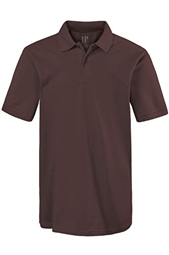 JP 1880 Herren große Größen bis 8XL, Poloshirt, Oberteil, Knopfleiste, Hemdkragen, Pique, braun 3XL 702560 30-3XL