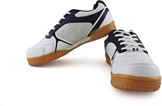 Vector X Warrior Kids Badminton Shoes (White-Blue)