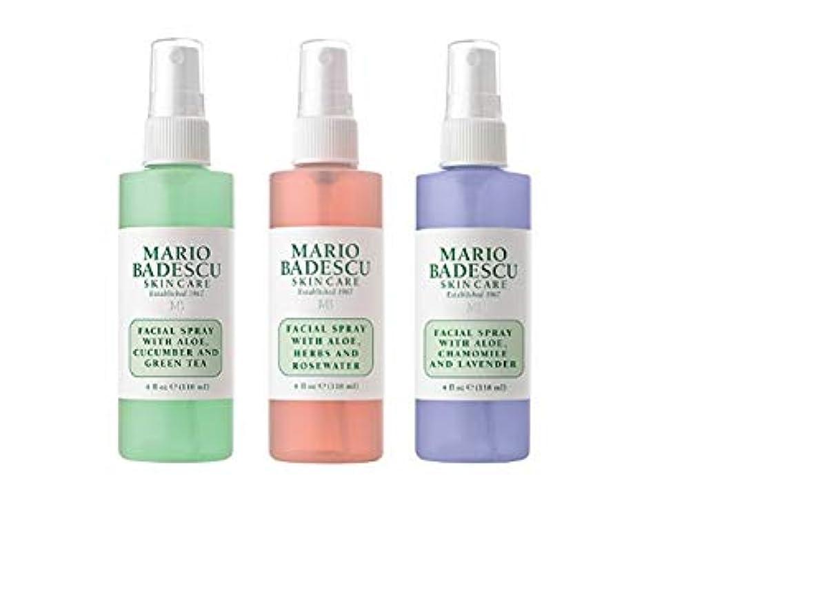 仕事に関して湖[(マリオ バデスク) Mario Badescu] [Spritz Mist and Glow Facial Spray Collection, 3 Piece Set - Lavender, Cucumber, Rose] (並行輸入品) [並行輸入品]