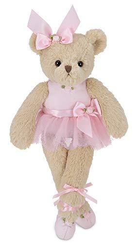 Bearington Nina Plush Stuffed Animal Ballerina Teddy Bear in Pink Ballet Outfit, 13 inches