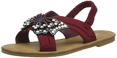 Joe Browns All In A Flutter Sandals, Sandali Bassi Donna, Un Borgogna Multi, 35.5 EU