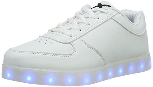 wize & ope Unisex-Erwachsene LED Low-Top, Weiß (White 01), 41 EU