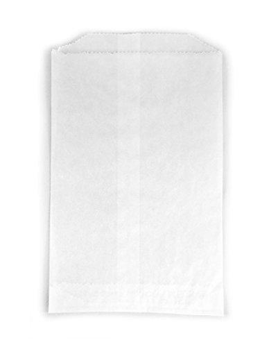 - 100 - Flat Glassine Wax Paper Bags - 4 1/2in x 6 3/4in - (11.4cm x 17.1cm) - Includes JenStampz Top 10 - Medium