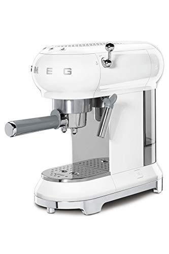 Smeg ECF01WHEU Kaffeevollautomat, Das Thermoblock-Heizungssystem Espresso-Kaffeemaschine ermöglicht einen schnellen Start und eine präzise Temperaturkontrolle für das Aufbrühen von Kaffee, 2 liters
