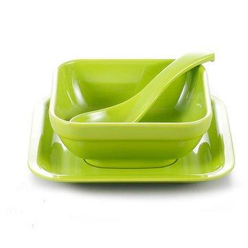 Generic coloré en mélamine Vaisselle solide Dessert Plat Dessert Bol Cuillère pour s'adapter