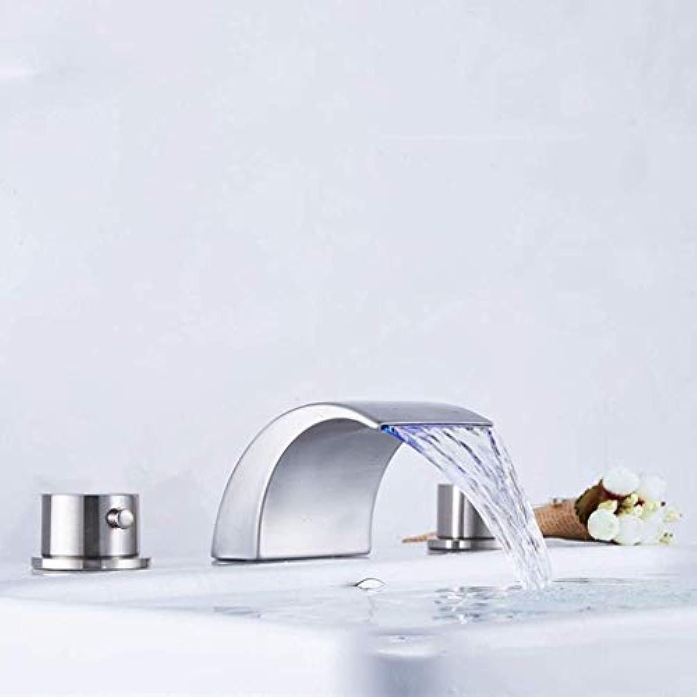 Giow Spültischarmaturen im europischen Stil Separate Waschtischarmatur, gebürstet DREI-Loch dreiteiligen Wasserhahn Wasserhahn
