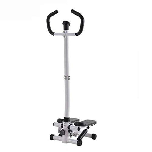 wei Inicio Equipo de Gimnasia Silent Armrest Stepper Multifuncional Stepping Fitness Máquina de torsión Hidráulica Skinny Legs Mini Leg Stepper Bearing Peso 100kg (Color:Blanco)