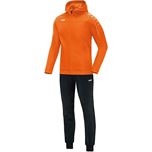 JAKO Damen Classico mit Kapuze Trainingsanzug Polyester, Neonorange, 40