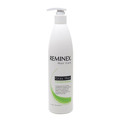 Anti-gray Hair Conditioner By Reminex to Restore Gray Hair and White Hair to Their Original Hair Color. 8 Oz. Per Bottle. Perfect to Use with Reminex