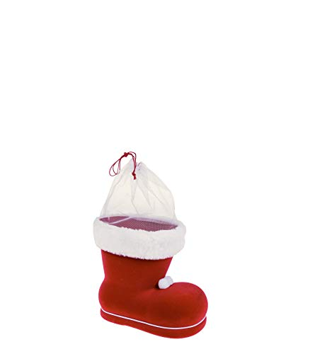 Idena 8550017 - Nikolausstiefel, Rot, Nikolaus, zum Befüllen, Geschenk, Verpackung, Weihnachten