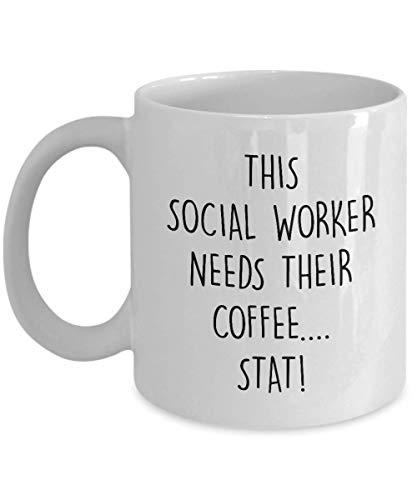 N\A Lustige Sozialarbeiter Tasse Diese Sozialarbeiterin braucht ihre Kaffee Stat Neuheit Geschenkidee Kaffee Teetasse