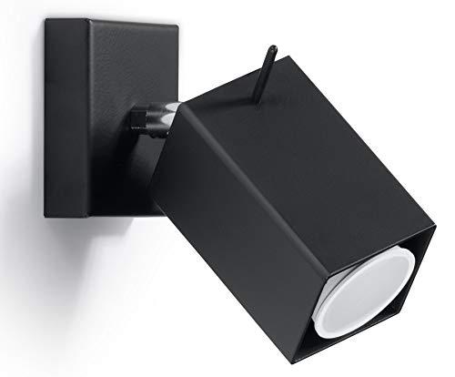 SOLLUX lighting MERIDA - Lampada da parete in acciaio, colore: Nero