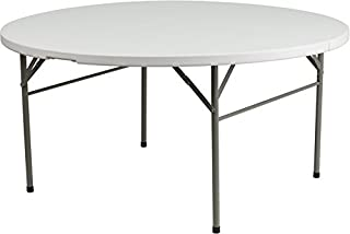 60'' Round Bi-Fold Plastic Folding Table - Commercial Quality Banquet Tables (60 inches)