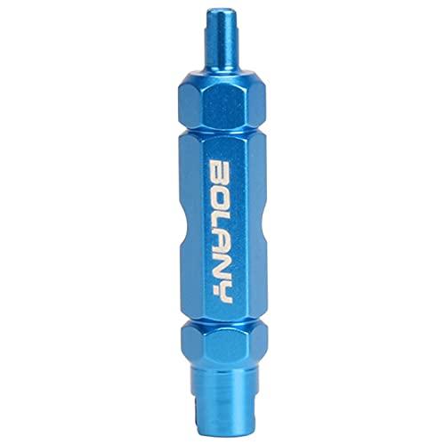 QKFON Herramientas de reparación de núcleo de válvula de bicicleta, llave de válvula de bicicleta, herramienta de extensión de neumáticos multifunción para reparación de bicicletas
