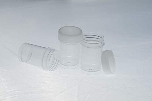 Generisch 100 Schraubdosen 20ml - Schraubdeckeldosen - Kunststoffdosen mit Schraubdeckel Tiegel