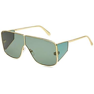 Tom Ford Cole TF 285 01J Black /& Gold Aviator Green Polarized Sunglasses Size 59