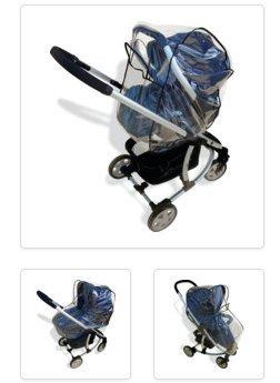 Sunnybaby 10078 Regenhoes, universeel, 4 in 1, voor babyschaal, kinderwagen, sportwagen en buggy - travel
