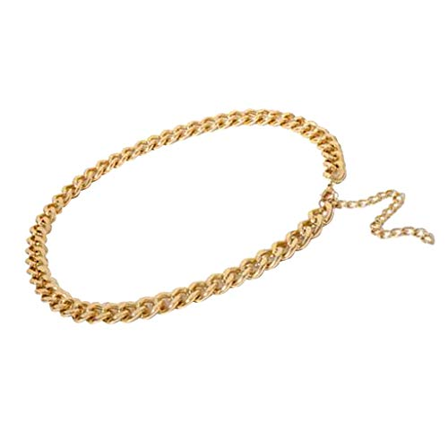 joyMerit Single Link Chain Waist Bikini Bauchkette Hip Chain Beach Body Schmuck - Golden
