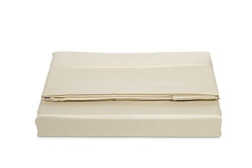 AmazonBasics, hoeslaken, katoen-satijn, draaddichtheid 400, kreukvrij, 240 x 320 + 10 cm - beige