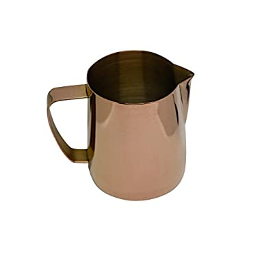 Latte Art | Stainless Steel Milk Frothing Pitcher Rose Gold 12 oz Titanium Mirror Finish