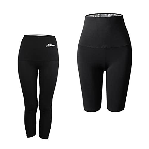 F Fityle Pantalones de Sauna para Mujer Body Shaper Jogger Gym Legging Pantalones Deportivos Workout M