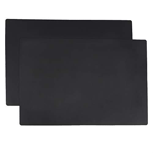 AmazonCommercial - Paquete de 2 tapetes de silicona para cocina, protectores de encimera, 63,5x43,1cm (multiusos, tereftalato de polietileno [PET])