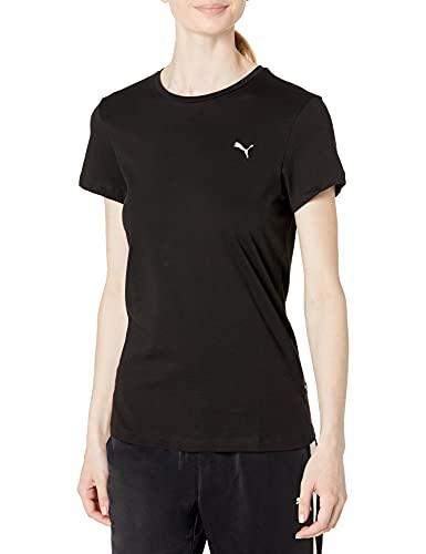 PUMA womens Essentials Small Logo Tee T Shirt, Puma Black-cat, XX-Large US