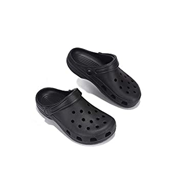 Cape Robbin Vigilante Clogs Slippers for Women Women's Fashion Comfortable Slip On Slides Shoes - Black Size -9
