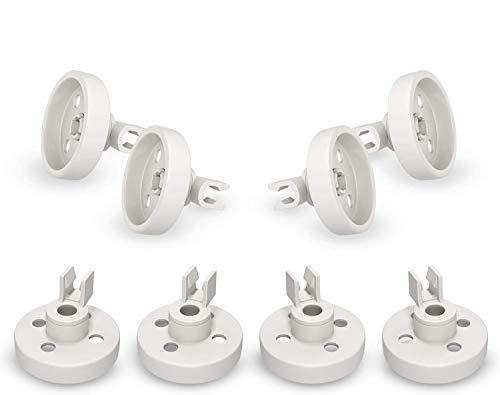 Laufrolle Korbrolle Set 8Stk Rolle Räder Ersatz für Bosch 066320/00066320 für Unterkorb Geschirrspüler Spülmaschine Siemens/Neff