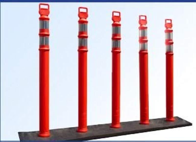 EZ Grab 5 Orange Post Curb Base System Includes 5 Ea 03 734 And Base