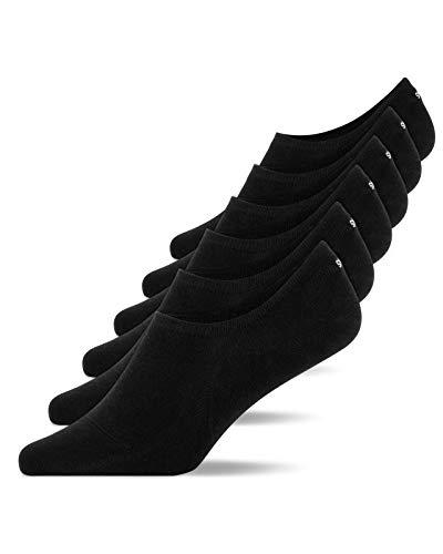 Snocks Sneaker Socken Damen Schwarz Größe 39-42 6x Paar Sneaker Socken Herren Damen Sneaker Socken Füßlinge Damen Sneakersocken Ballerina Socken Damen