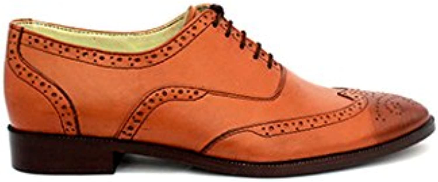 TAAVETTI Men's Formal Brown Handmade Leather Barnes Oxford shoes