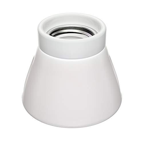 ledscom.de E27 Porcelain Lamp Socket MINZ, rotondo, bianco, 72mm