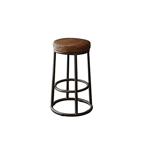 LIU Taburetes de Bar industriales, Estilo Silla Vintage con reposapiés de diseño en 75cm Juego de 1
