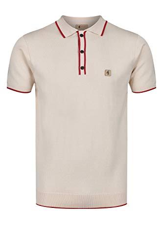 Photo of Gabicci Lineker Short Sleeve Tipped Edge Polo Shirt | Oat Medium