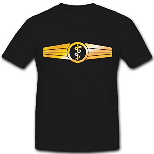 Tätigkeitsabzeichen Sanitäter-Bundeswehr Orden Abzeichen Sani - T Shirt #8279, Größe:M, Farbe:Schwarz