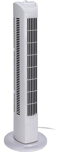 hibuy Ventilador de torre con oscilante y 3 niveles de velocidad, 80 cm de alto