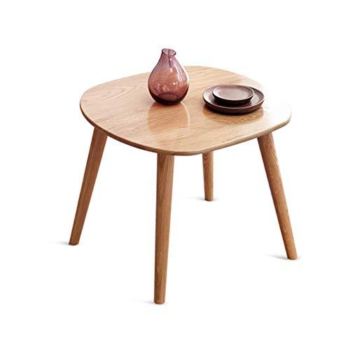 Axdwfd Table d'appoint de canapé élégant en chêne de table basse, très approprié à la table de collations 60x60 x 50cm de la chambre à coucher du salon