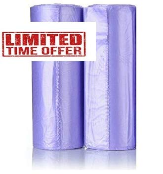 Maui Small Trash Bags, 4 Gallons Lavender Scented Strong Trash Bags. for Office, Bathrooms, Bedroom, Home and Kitchen. Easily fit 4 Gallon Trash can Hard to Break Easy to Open. (120)