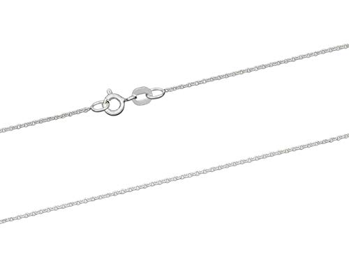 925 Sterling Silver Necklace Chain, 1.2mm Cable Chain, 16'/40cm Length