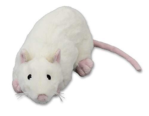 Inware 9145 - Kuscheltier Ratte Flinx, weiß, 22 cm