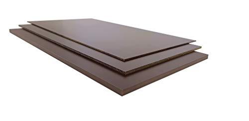 Hoja de papel duro marrón de 0,5 a 20 mm, varios cortes (1,5 mm, 1050 x 500 mm)