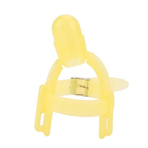 Baby siliconen duim zuigbeschermer 2 kleuren instelbare pasgeborenen bijtring beschermer vingers bescherming gereedschap geel