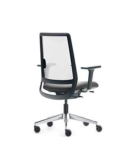 Silla de oficina, FORMA 5 Sense, silla de trabajo ergonómica- silla de escritorio profesional, silla de despacho con respaldo lumbar y malla, totalmente personalizable, unidades y pedidos